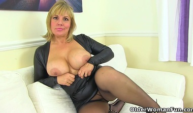 UK Milf Danielle Looks Close To Perfection In A Black Dress