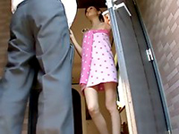 Young Japanese Wife Invites Her Husband's Friend To Come In