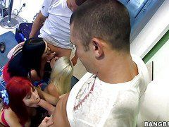 Three Young Prostitutes In A Serious Gangbang