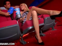 Nikky Blond Gets Banged In Movie House