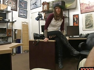 Lovely Brunette Gets Screwed By Pawn Guy