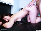 Lubricious Red Head Melissa Chacon Goes Wild On Hard Cock And Gets Facial