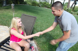 Brunette Chick Receives A Cum On Pussy From A Guy