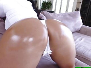 Augusts Ass Bounces While Riding Dick