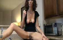 Dirty Mommy Spreads Her Legs On The Kitchen Counter