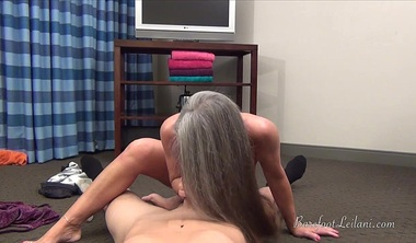 Leilani Lei Gives Foot Job To Young Man POV