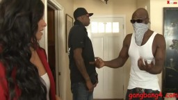 Lovely Woman Interracial DP Action By Huge Black Boners