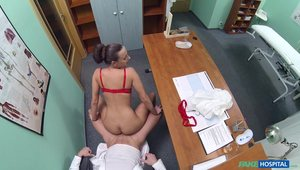 Workplace Hardcore With A Tanned Brunette Nurse