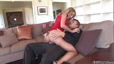 Perfect Ass Blonde Amy Brooke Rides A Guy