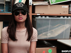 Asian Teen Aurora Winters Lets Security Guy Fuck Her To Avoid Jail
