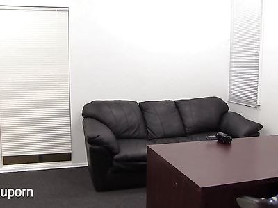 Casting Couch Anal With A Tatted Up Busty Girl