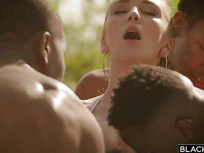 2 On 3 Interracial Group Sex With Kendra Sunderland