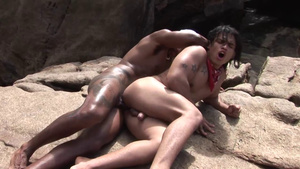 Madly Horny Gay Couple Fuck Each Other On The Beach