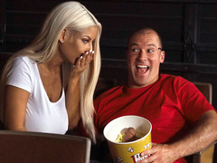 Bridgette B Fingers Her Dripping Wet Pussy In The Cinema