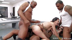Interracial Gangbang With Dirty Hailey Young