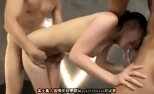 Doggy Style Fucking And Blowjob In A Wild Japanese Gangbang