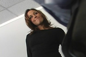 Cock Sucking Dark-haired Young Randi Wright Eats A Big Dick
