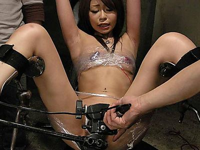 Gorgeous Asian Gets Gangbanged While Restrained Slut Watches The Show