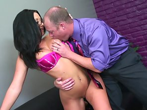 Bubble Ass Whore Takes Slamming Pleasure From Her Guy In Many Ways