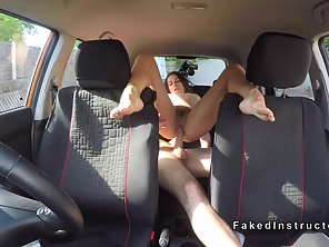 Dazzling Taxi Driver Gets Riding Way Dominated In Hairy Snatch