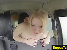 British Taxipassenger Banged In Back Of Taxi