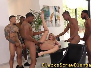 Sexy Babe Getting Slammed By Group Of Meaty Dick Dudes