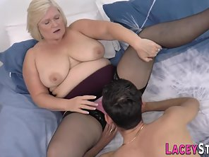 Big Boobs Blonde Granny Undressed Then Railed By Young Dude Dick