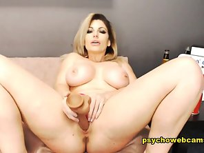 Blonde With Big Boobs Suck Then Pussy Nailed By Dildo Until Cum Comes