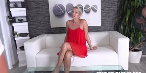 LADY IN RED IS BANGED HARD IN CASTING