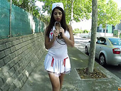 Sassy Chick In Nurse Uniform Julia De Lucia Is Fucked In An Abandoned House