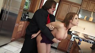 Busty Britney Amber Gets Mouth Jizzed After Rough Sex