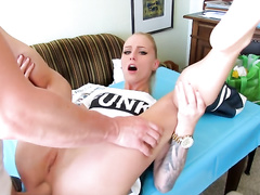 Stunning Blonde Gets A Huge Facial After Hot Anal Fuck