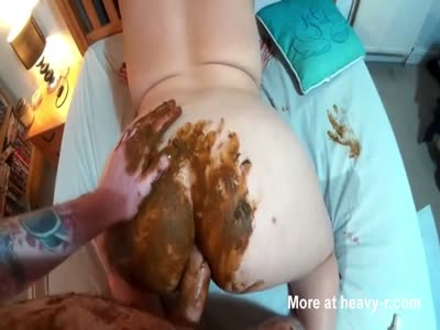 Messy Anal With Chubby Scat Slut
