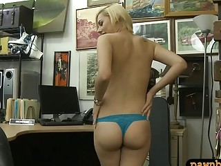 Lovely Blonde Drilled By Horny Pawn Dude