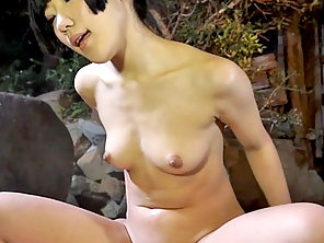 Brunette Whore Exposed Her Round Boobs In Wild Mood