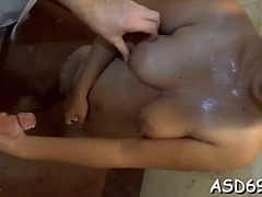 Licking And Riding A Large Rod