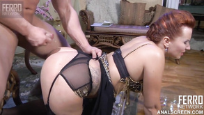 Redhead Mom With Natural Curves Roughly Ass Fucked