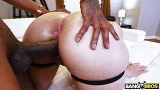 Milky-white Brunette Getting Pounded By A Bbc
