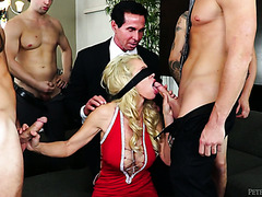 MILF Gets Fucked By Her Cuckold Hubby After Getting Gangbanged