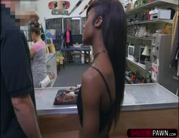 Black Babe Lexxi Deep Wants To Sell Her Mask Rides Shawns Cock