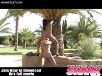Outdoor Lesbo Fuck Session
