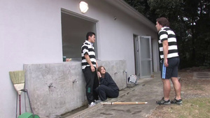Hot JAV College Girl Gets Banged By A Gang Of Dicks Outdoor