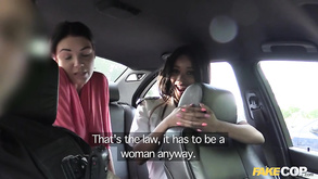 Two Cops Undress And Search Girl For Threesome